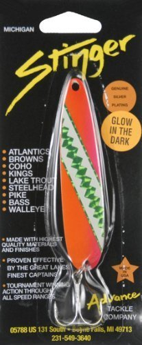Advance Tackle Jawbreaker 3.75-Inch Sting Spoon, Orange