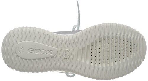 Geox Zapatillas Niñas J Plateado silver Para B Waviness xqxwFUH8