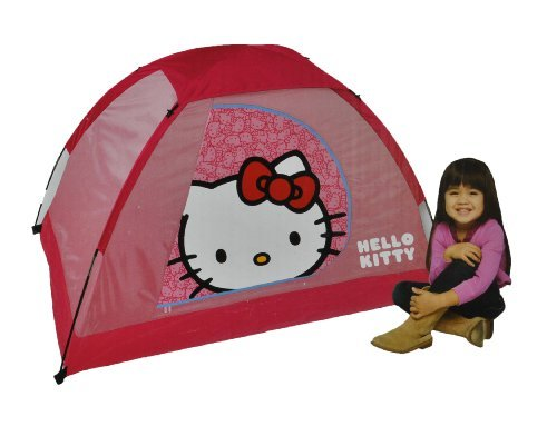 """Hello Kitty Youth 2 Pole Dome Tent with Zip """"D"""" Doors, 5-Feet x 3-Feet x 36-Inch, Outdoor Stuffs"""