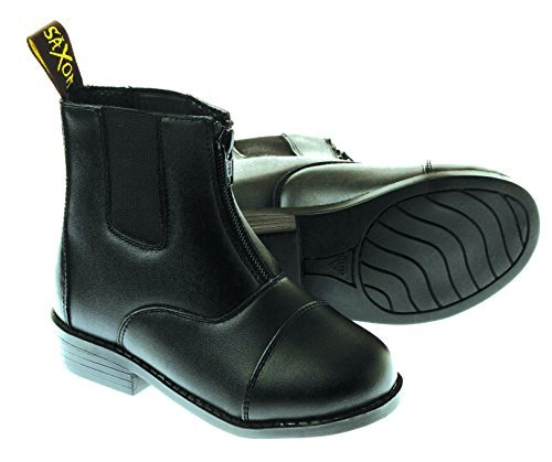 10 Saxon Equileather Up Size Black Paddock Boot Zip By Childrens 00qdrf