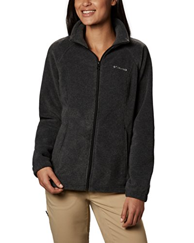 Columbia Women's Benton Springs Classic Fit Full Zip Soft Fleece Jacket, Charcoal Heather, Large