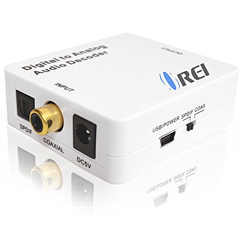 Orei DA34 Digital to Analog Audio Decoder SPDIF/Coaxial 5.1-Channel Input to RCA L/R/3.5mm Headphone Output