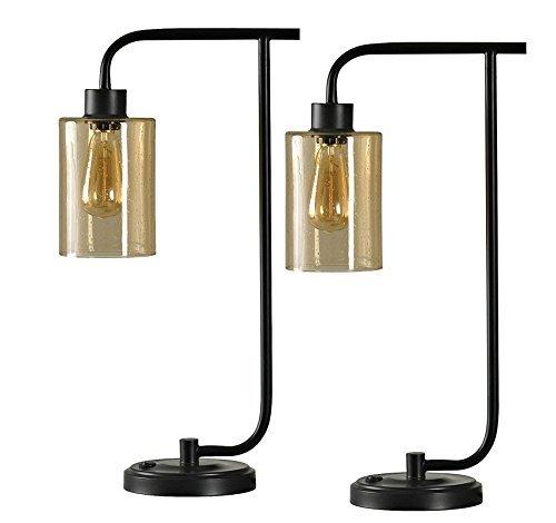 Style Craft L311420 Lucas Table Lamp, Set of 2, Dark Bronze Finish