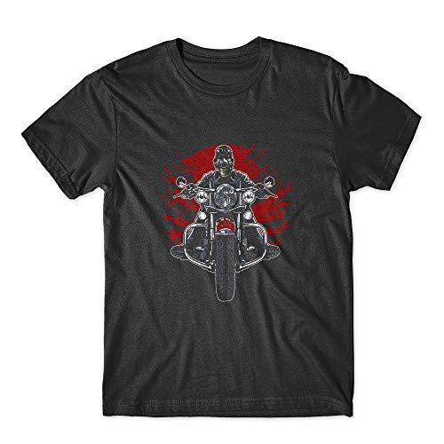 (Wild Biker T-Shirt 100% Cotton Premium Tee New Black (Large))