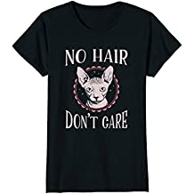 No Hair Cat Shirt Cute Funny Hairless Cat No Hair Don't Care