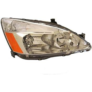 2003-2004-2005-2006-2007 Honda Accord 4-Door Sedan or 2-Door Coupe Headlight Headlamp Front Halogen Composite Head Lamp Light Right Passenger Side (03 04 05 06 07)
