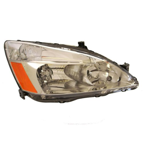 2003-2004-2005-2006-2007 Honda Accord 4-Door Sedan or 2-Door Coupe Headlight Headlamp Front Halogen Composite Head Lamp Light Right Passenger Side (03 04 05 06 07) Composite Headlamp