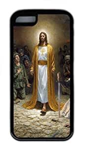 Apple iPhone 5C Case Cover - Jesus In Robe TPU Case Cover For iPhone 5C - Black