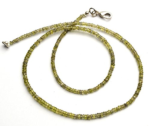 JP_Beads 1 Strand Natural Green Sapphire 3MM Approx Facet Rondelle Bead 17