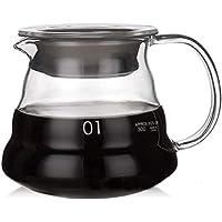 وعاء تقديم القهوة من الزجاج المقاوم للحرارة شفاف سعة 360 مل من فيدين / وعاء لصب القهوة/ وعاء للقهوة بتنقيط يدوي / شفاف…