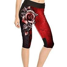JOYHY Women's Plus Size 3D Printed Active Workout Capris Leggings