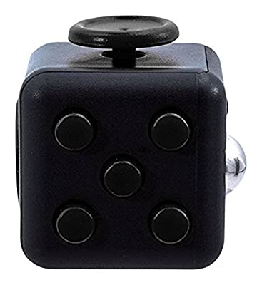 Oliasports Fidget Cube Relieves Stress And Anxiety for Children and Adults Anxiety Attention Toy, Black)