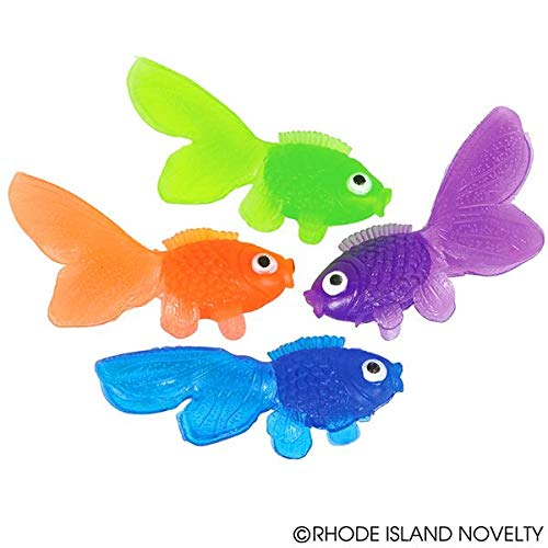 (Rhode Island Novelty Vinyl Goldfish - 144 pieces - Assorted Colors - 1 3/4 inch)
