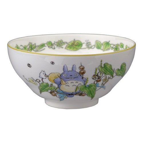 Totoro Sitting on Leaves Noritake X Studio Ghibli Neighbor Totoro Japanese rice bowl (Japan Import)) ()