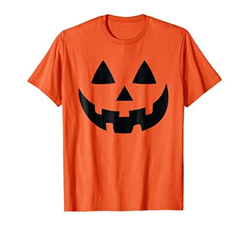Jack-O-Lantern Halloween Pumpkin Face T-Shirt -