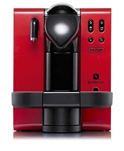 DeLonghi EN660.R Nespresso Lattissima Single-Serve Espresso Maker, Red