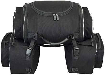 Alforjas Laterales con Bolsa Trasera para Moto (semirrígidas)
