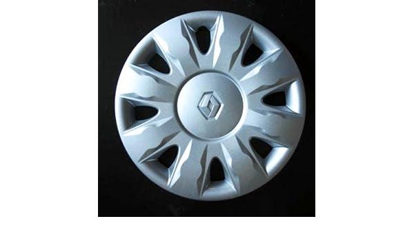 Juego de tapacubos Neuf para Renault Clio 3/Scenic 2/Megane 2/Megane 3/Modus/Laguna 2/Laguna 3/Espace 4/Vel Satis/Twingo 2/Kangoo 2 con ruedas originales en ...