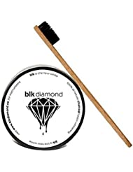 Blkdiamond - Premium Activated Charcoal Teeth Whitening Powder with 1 Bamboo Toothbrush - Natural Coconut Charcoal - Enamel Safe for a Whiter and Brighter Smile - Premium Organic Carbon Toothpaste