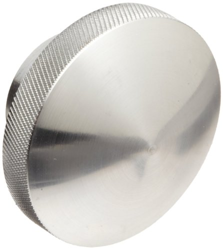 Round Domed Knob, Knurled Rim, Threaded Hole, 3/8