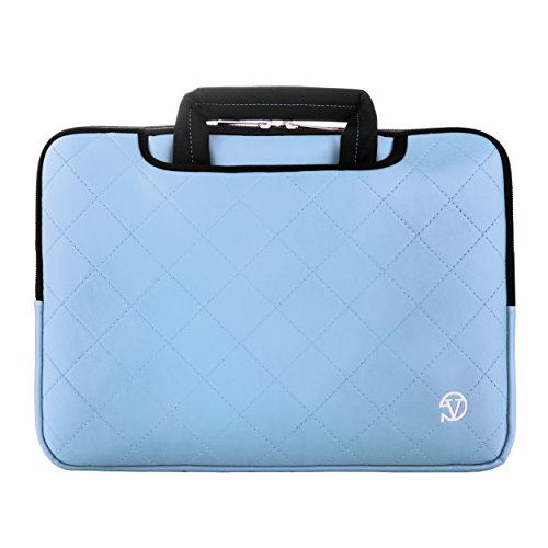 VanGoddy Gummy 13.3 inch Laptop Neoprene Sleeve Bag Case Briefcase for 11.6-13.3 inch laptop - for Dell Inspiron 13 7000 Series Laptop / Lenovo ThinkPad X230 (Light Blue) - 4100 Series Laptop