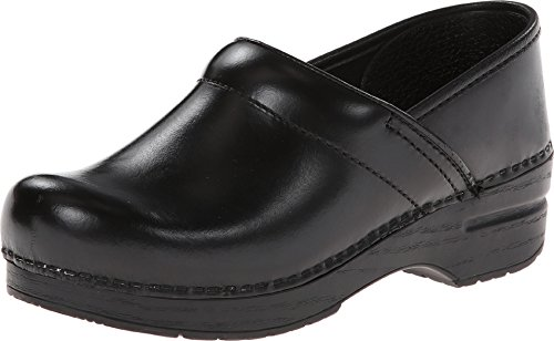 - Dansko Unisex Professional Black Cabrio Leather Clog/Mule 43 (US Men's 9.5-10, US Women's 12.5-13) Wide