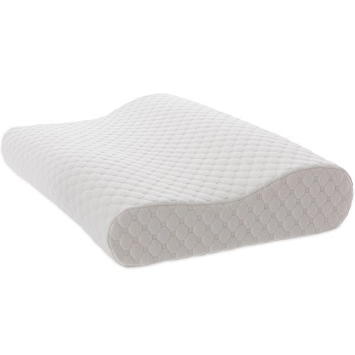 TAMPOR Memory Foam Contour Pillow Hypoallergenic Neck Pillow for Sleeping by, Extra Gift Pillow Cover, Cervical Pillow for Side and Back Sleeper, Standard