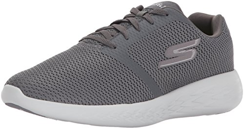 Skechers Heren Go-run 600-raffinage Sneaker Houtskool