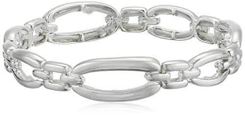 Napier Silver Link Stretch Bracelet, 0