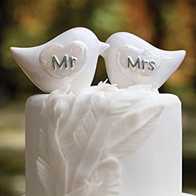 Hortense B Hewitt Wedding Cake Topper Porcelain Love Birds