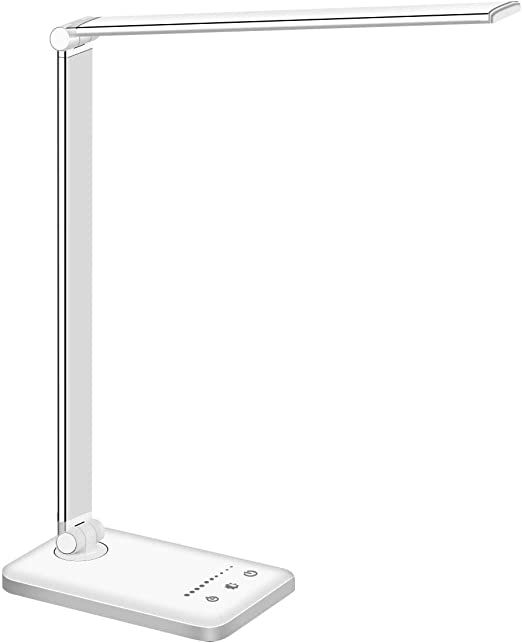 Augenpflege, USB-Port, 5 Modi, 10 Helligkeitsstufen, Timer 30//60 min, Speicherfunktion LED-Schreibtischlampe Schreibtischlampe