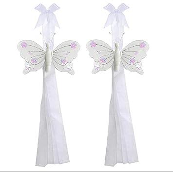 Butterfly Tiebacks White Jewel Nylon Butterflies Tieback Pair ...