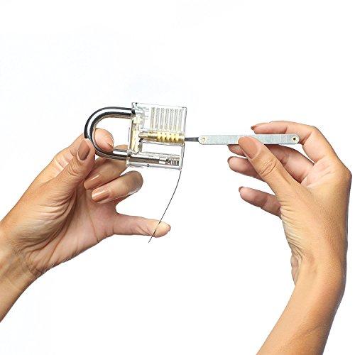 Beginners CoreX Lock Pick Set with Clear Practice Padlock