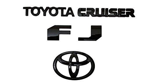 Rc Trading Toyota FJ Cruiser 2007-2015 Rear Black Emblem Badge Nameplate Badge