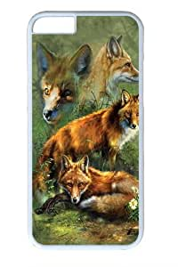 Children's Red Fox Collage PC Case Cover for iphone 5c and iphone 5c inch White