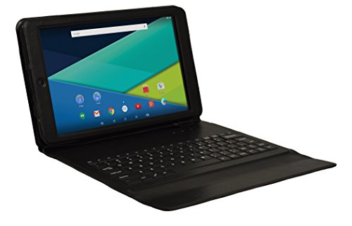 "Visual Land Prestige Elite 10QS - 10.1"" QuadCore Lollipop 5.0 Android Tablet with Keyboard Case, 16GB, IPS 1280x800 HD Screen, WiFi, Bluetooth ( Black )"