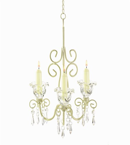 Iron and Acrylic Crystal Chandelier Candle Holder Lighting