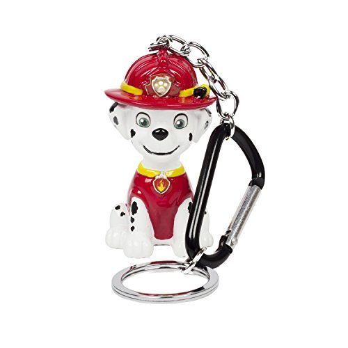 ol Red and White Marshall Resin Dangle Keychain ()