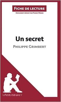 un secret de philippe grimbert fiche de lecture résumé complet