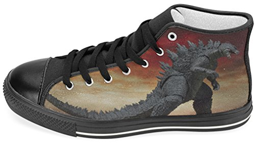 Mens Scarpe Di Tela Scarpe Da Ginnastica Alte Con Godzilla Tema Cascs37godzia5