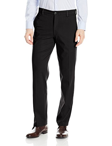 Dockers Men's Straight Fit Easy Khaki Pants D2, Black (Stretch), 34  34