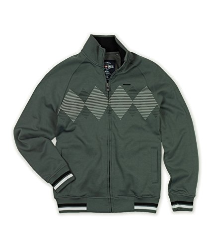 Ecko Unltd. Mens Argyle Full Zip Track Jacket Grey S