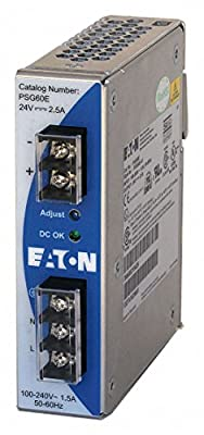 AC/DC DIN Rail Power Supply (PSU), Single Phase, 1 Output, 60 W, 24 VDC, 2.5 A