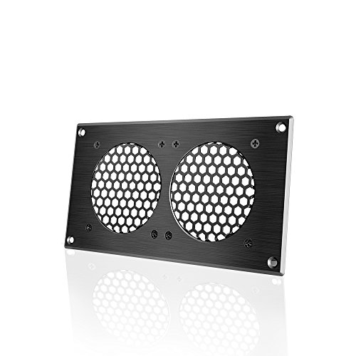 - AC Infinity Ventilation Grille 5, for PC Computer AV Electronic Cabinets, also includes hardware to mount two 80mm Fans