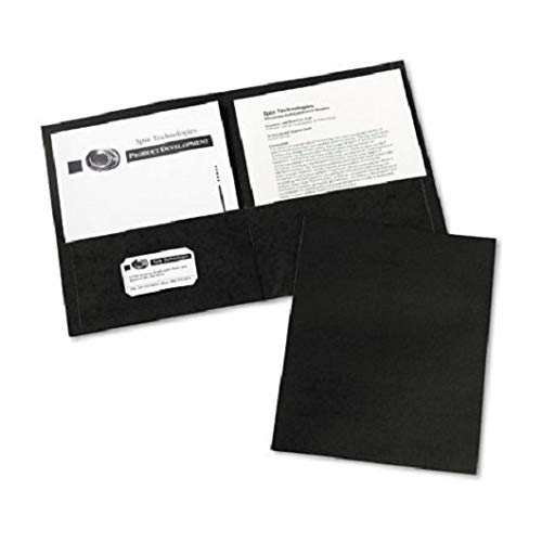 Avery Consumer Products Products - Two Pocket folder, 8-1/2amp;quot;x11amp;quot;, W/O Fasteners, Black - Sold as 1 BX - Two-pocket folders with no fasteners feature two pockets to hold loose paper -
