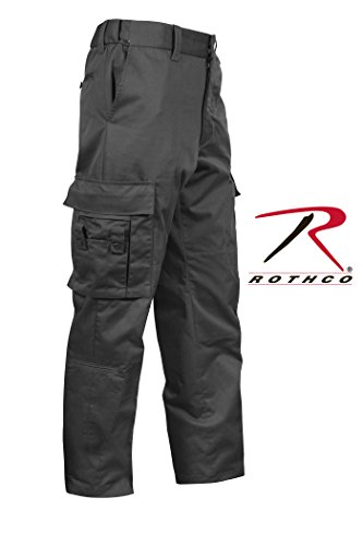 Black Paintball Deluxe - Rothco Deluxe EMT Pant, Black, (44/46) 44