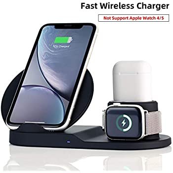 Amazon.com: Wireless Charger Stand,4 in 1 Qi-Certified ...