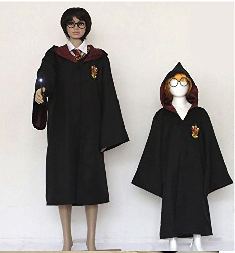 [Cosplay Costumes Halloween Role Playing Magic Gown Robe Cloak Clothes (XLarge)] (Hogwarts Robes Gryffindor)