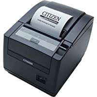Citizen America CT-S601S3RSUBKP CT-S601 Series POS Thermal Printer with PNE Sensor, Top Exit, RS-232C Serial Connection, Black
