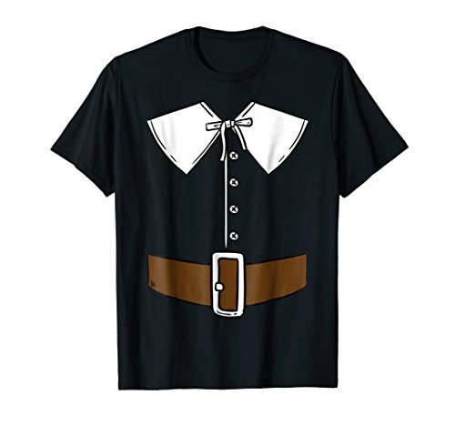 Funny Thanksgiving Pilgrim Outfit T Shirt Belt Button